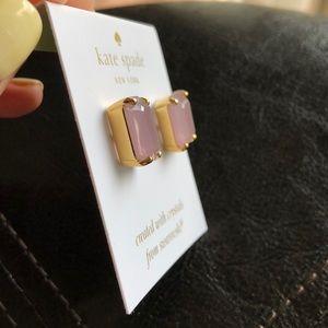 kate spade Jewelry - Kate Spade Swarovski Crystal Pink Stud Earrings